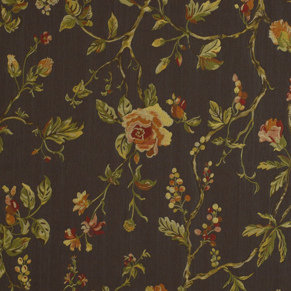 Garden Valley Fabric - Cocoa
