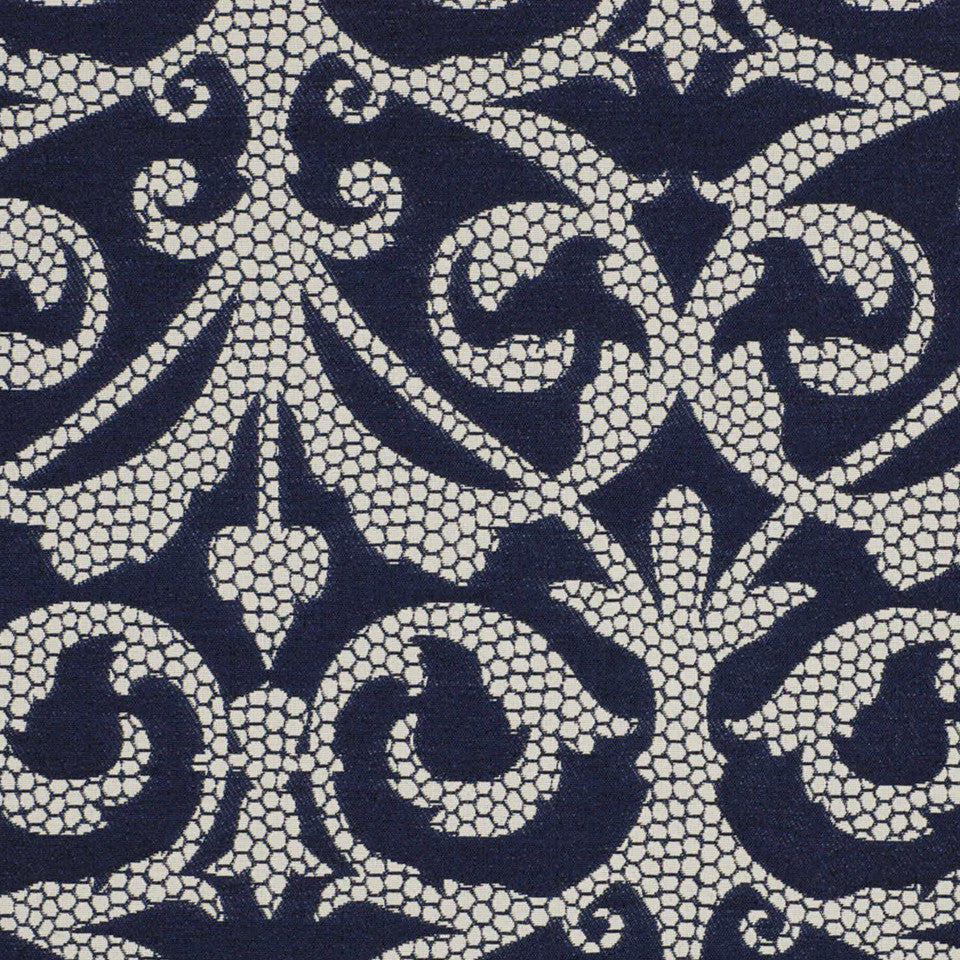 MOONLIGHT INDOOR/OUTDOOR Pebble Walk Fabric - Porcelain Blue