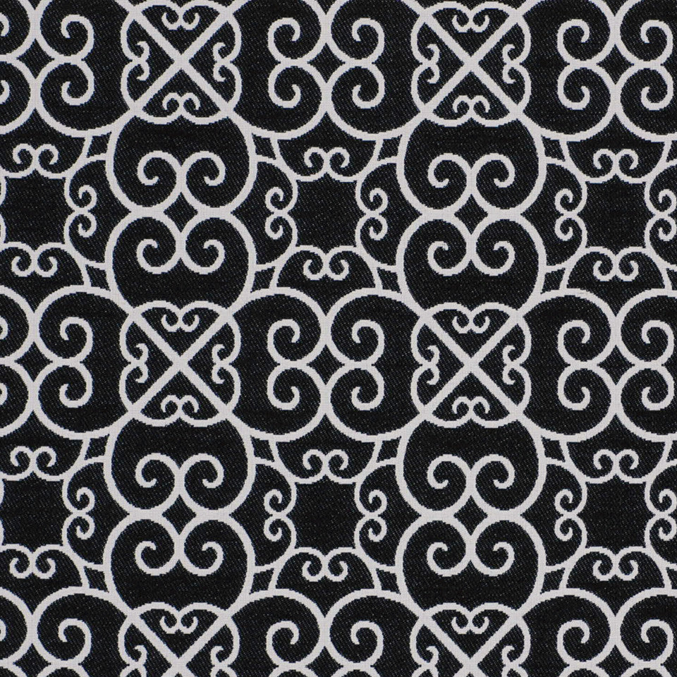 MOONLIGHT INDOOR/OUTDOOR Keltic Charm Fabric - Domino