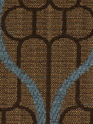 DECORATIVE PERFORMANCE Ogee Maze Fabric - Caspian