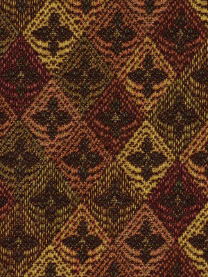 DECORATIVE PERFORMANCE Fleur Diamond Fabric - Nutmeg