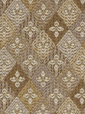 DECORATIVE PERFORMANCE Fleur Diamond Fabric - Fawn