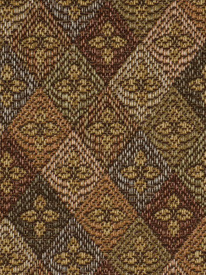 DECORATIVE PERFORMANCE Fleur Diamond Fabric - Adobe