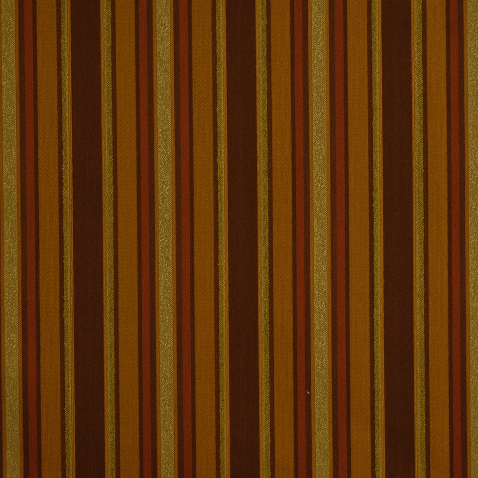 DECORATIVE PERFORMANCE Divided Lanes Fabric - Nutmeg