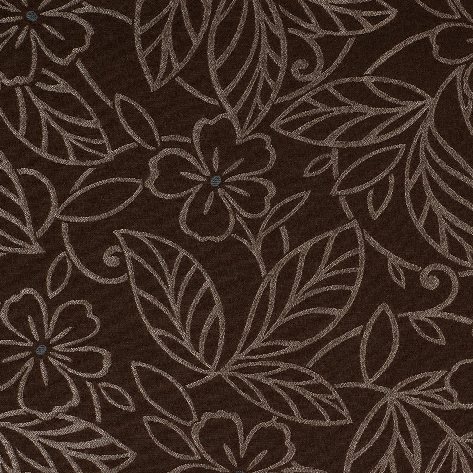 CORPORATE BINDER: PERFORMANCE/FINISHES DECORATIVE/UPH SOLIDS AND TEXTURES/ECO I Wild Garden Fabric - Espresso