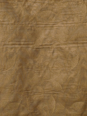 EMBELLISHED SILK SHEERS Kara Marie Fabric - Peche