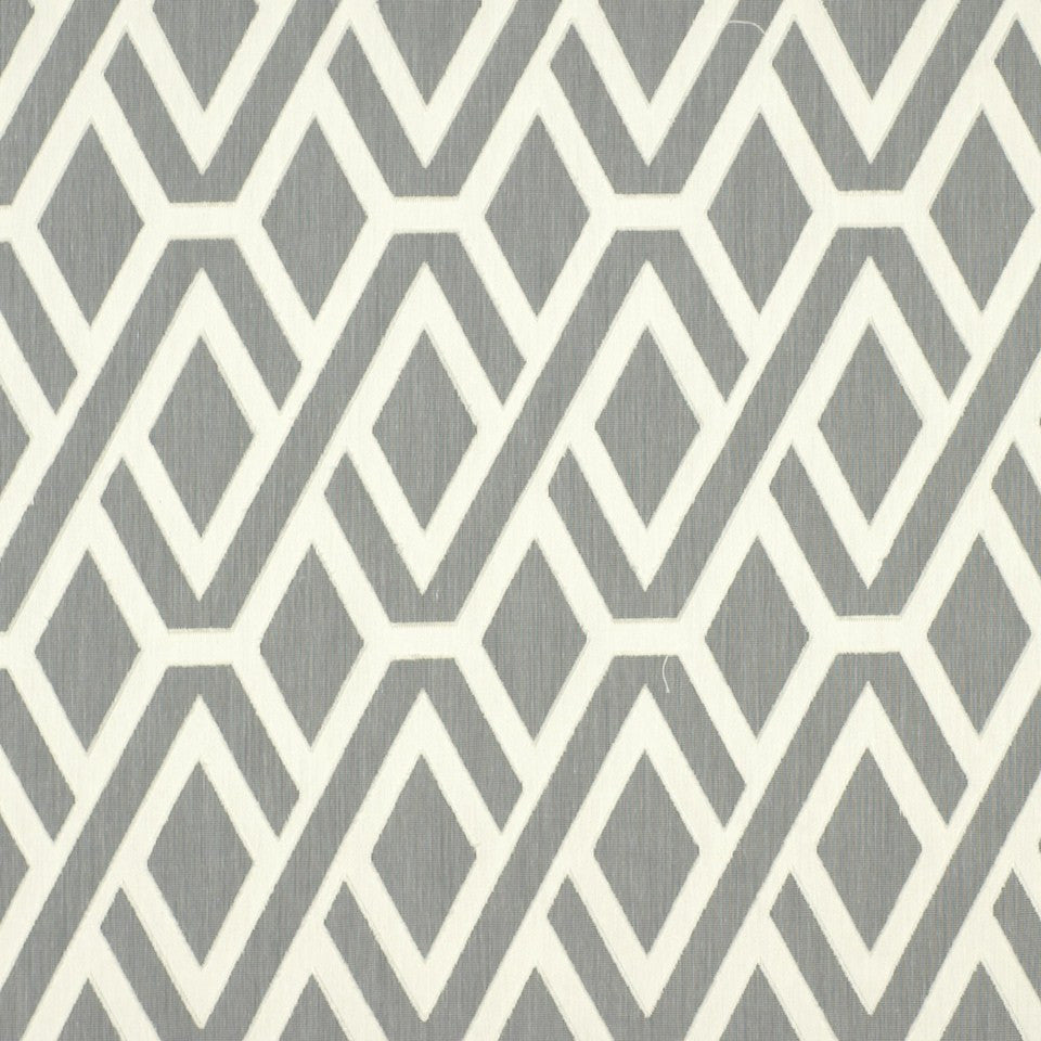 Diamond Maze Fabric - Bone