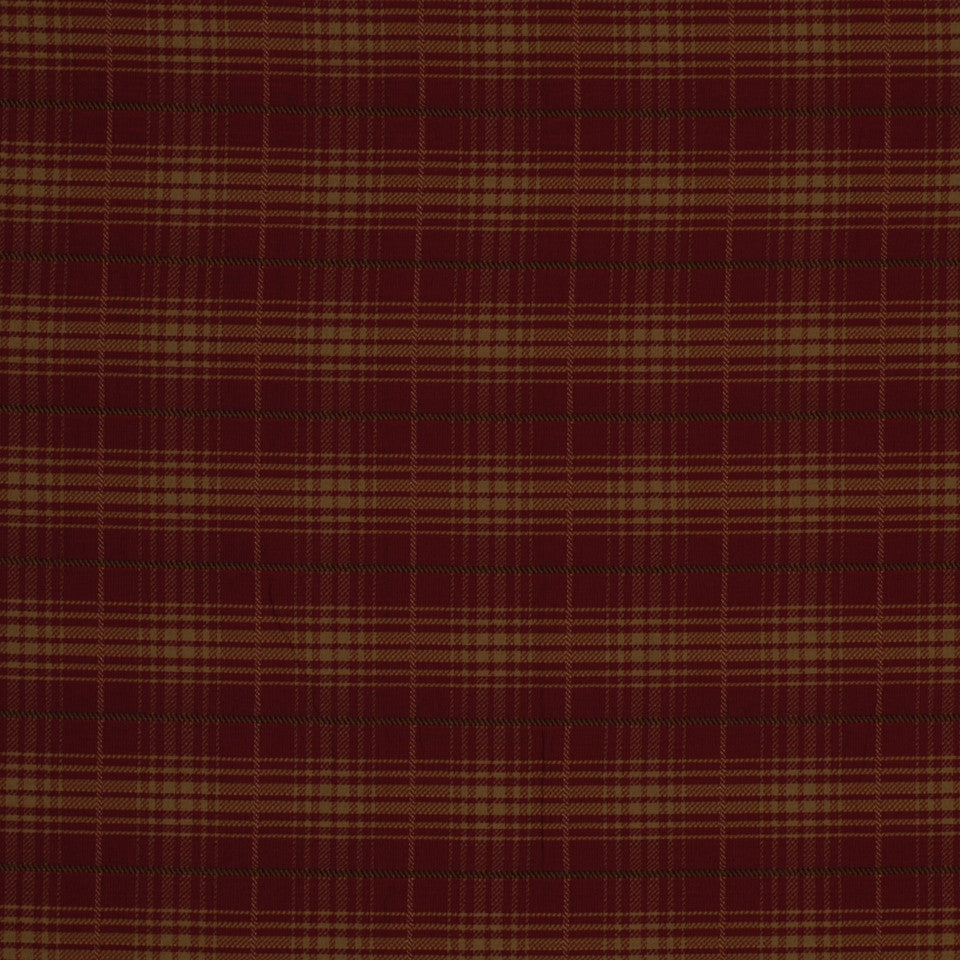 POMEGRANATE Baldwin Plaid Fabric - Pomegranate