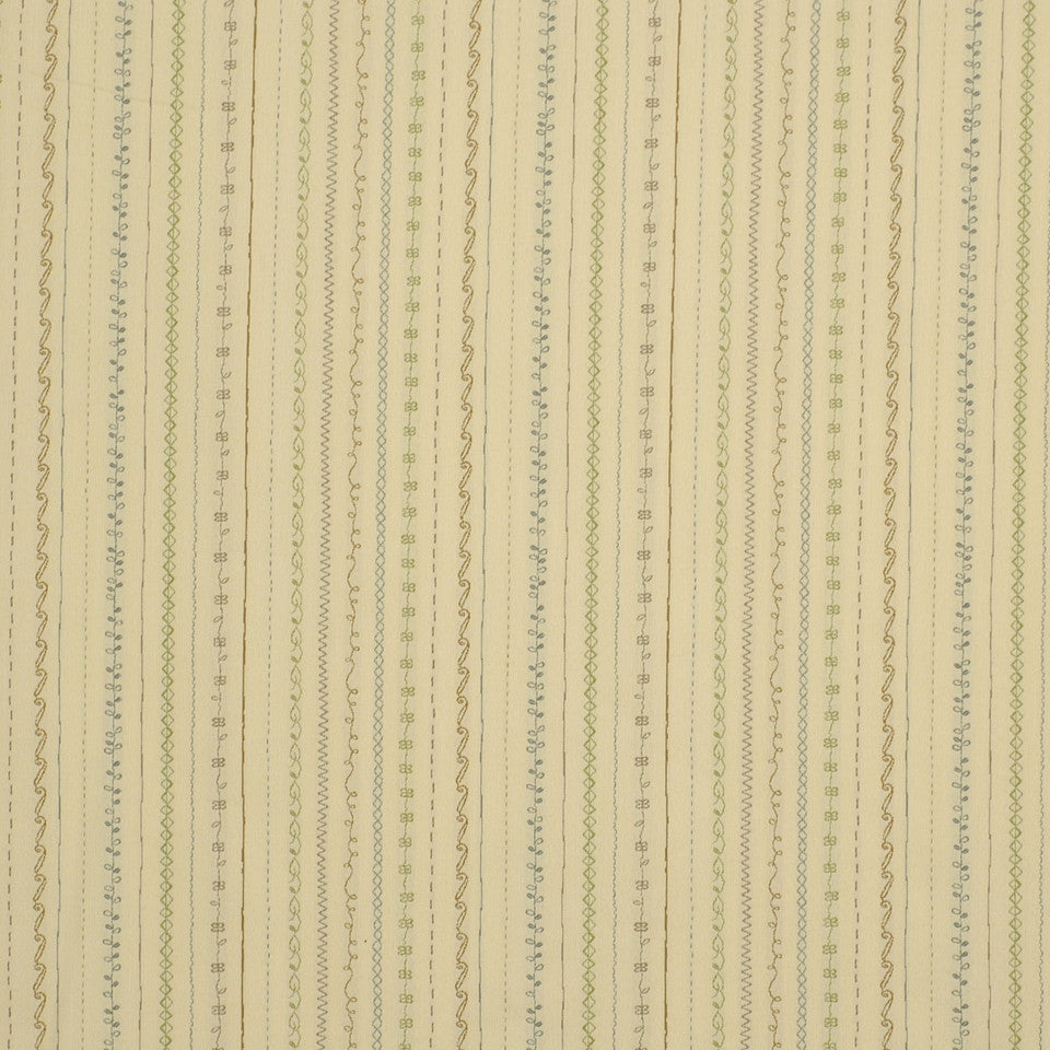 MIRAGE I Fancy Stitch Fabric - Mint Cream