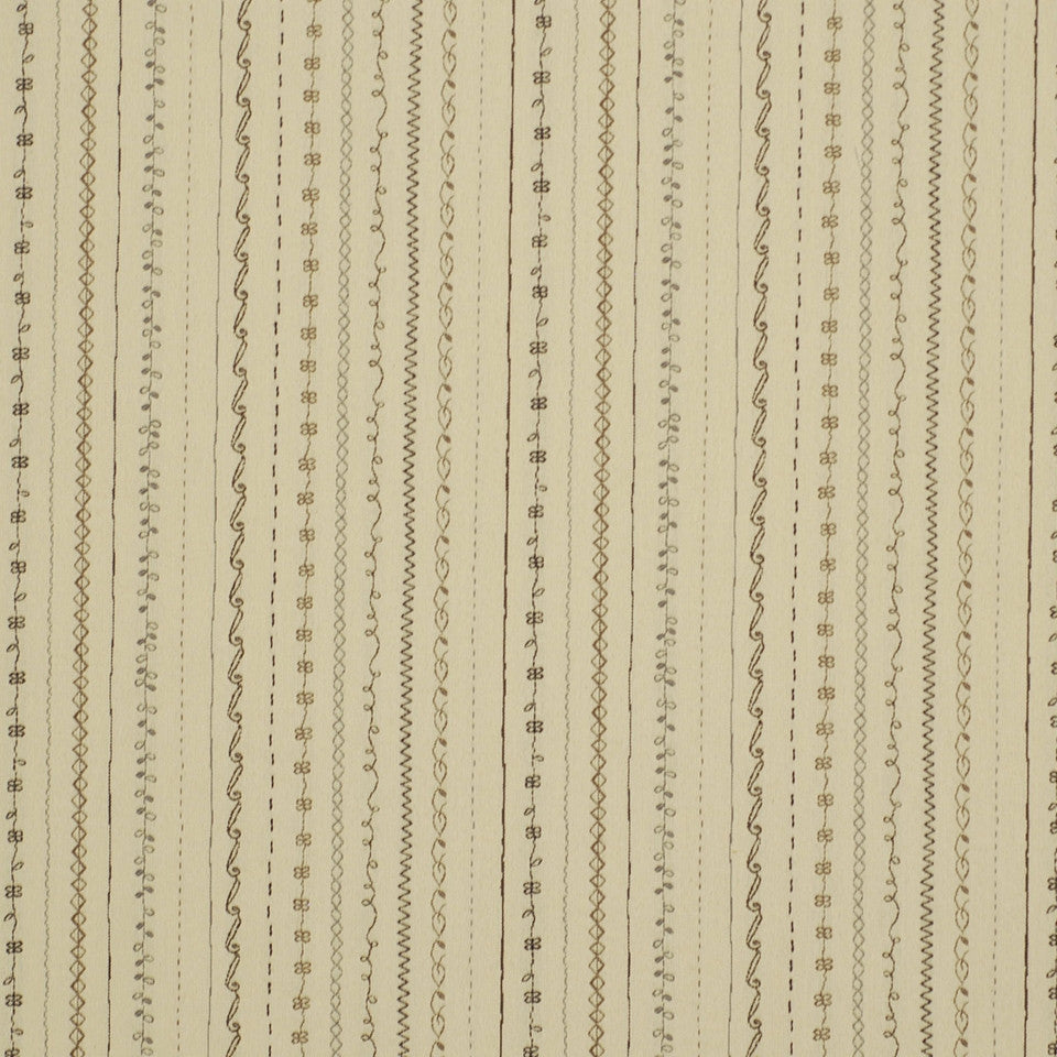 MIRAGE I Fancy Stitch Fabric - Stucco