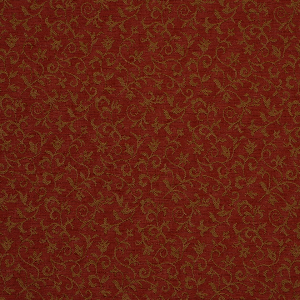 MIRAGE II Floral Grace Fabric - Vintage Red