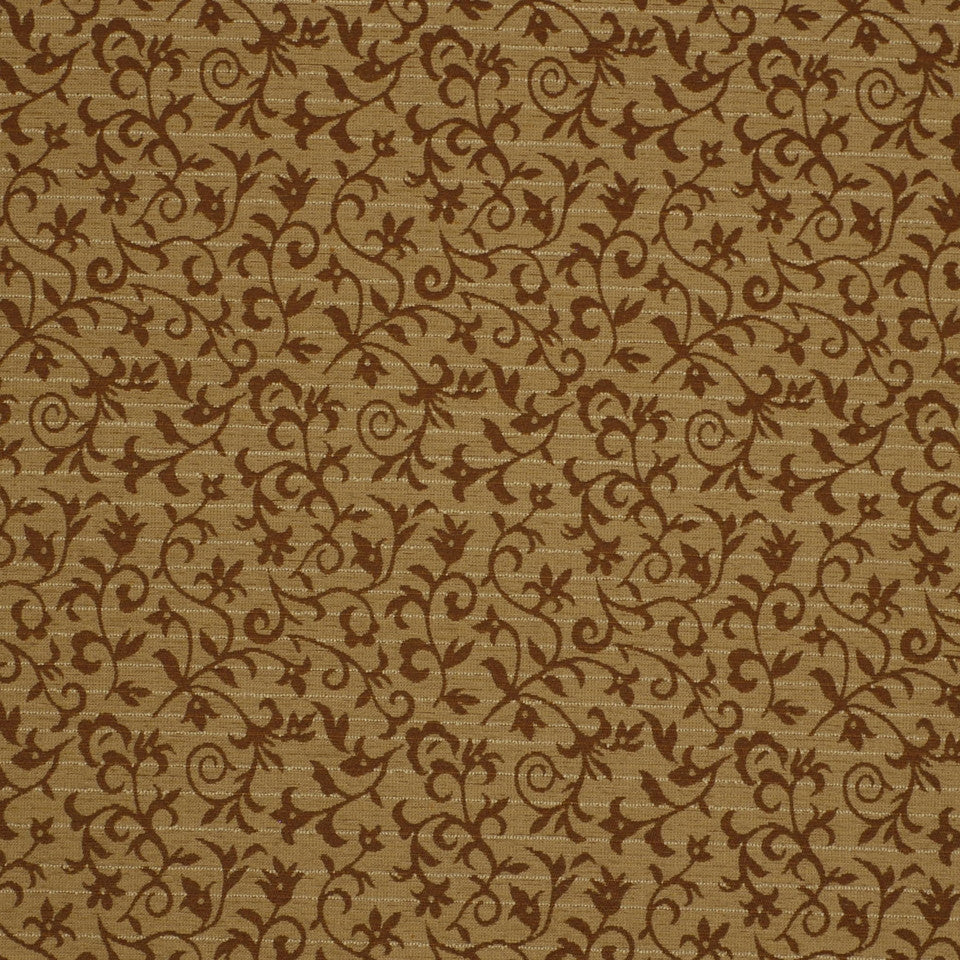 MIRAGE I Floral Grace Fabric - Pecan