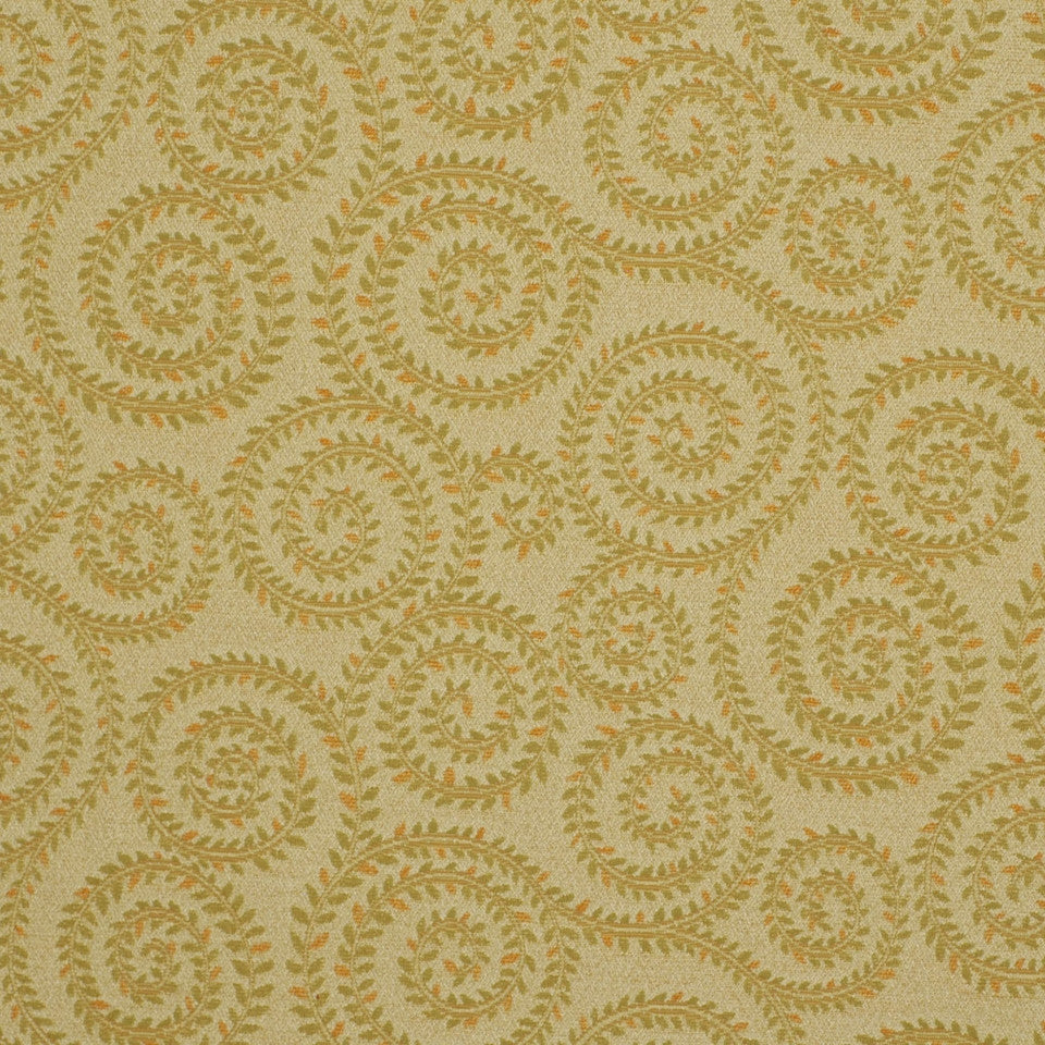 MIRAGE II Leaf Spirals Fabric - Celery