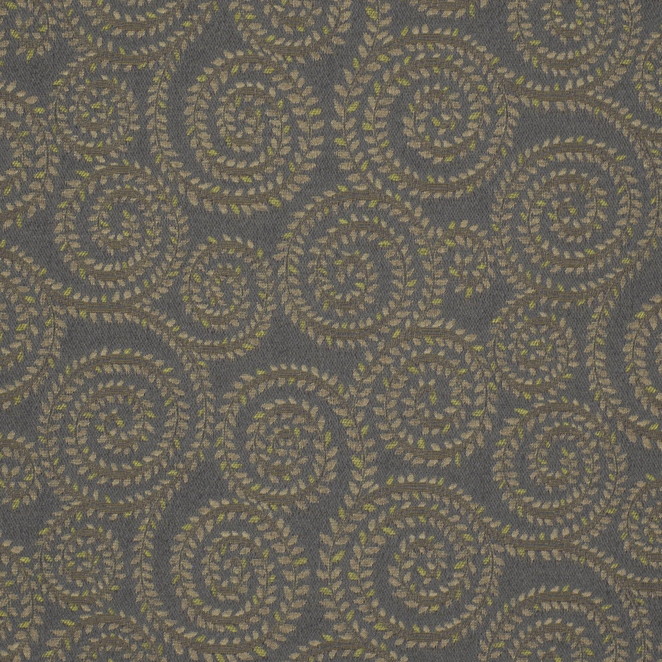 MIRAGE II Leaf Spirals Fabric - Bayberry