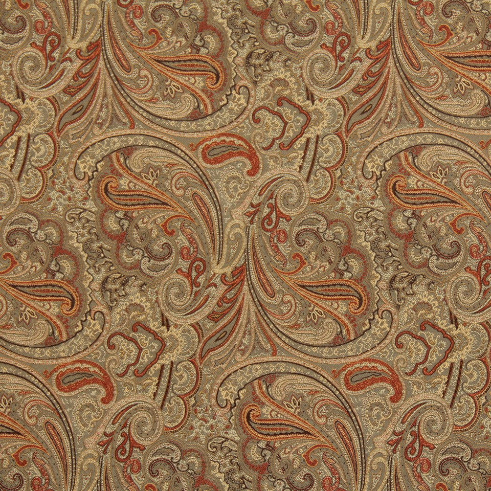 NEW TRADITIONS Patna Paisley Fabric - Spice