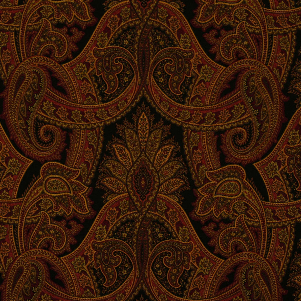 NEW TRADITIONS Isere Paisley Fabric - Kohl