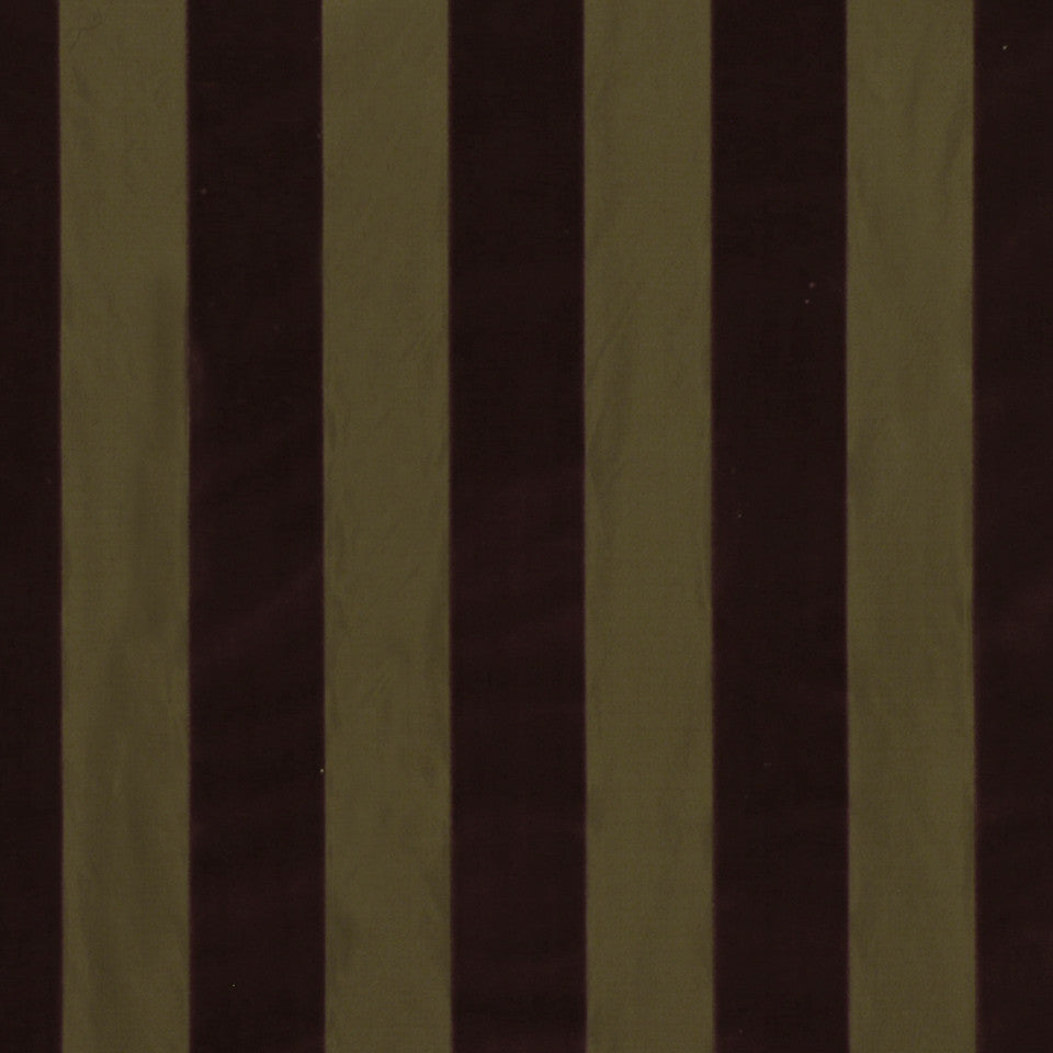 WARM TONES Bund Stripe Fabric - Scarlet