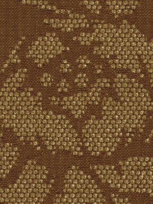 POSITIVELY     STERLING Glint Floral Fabric - Copper