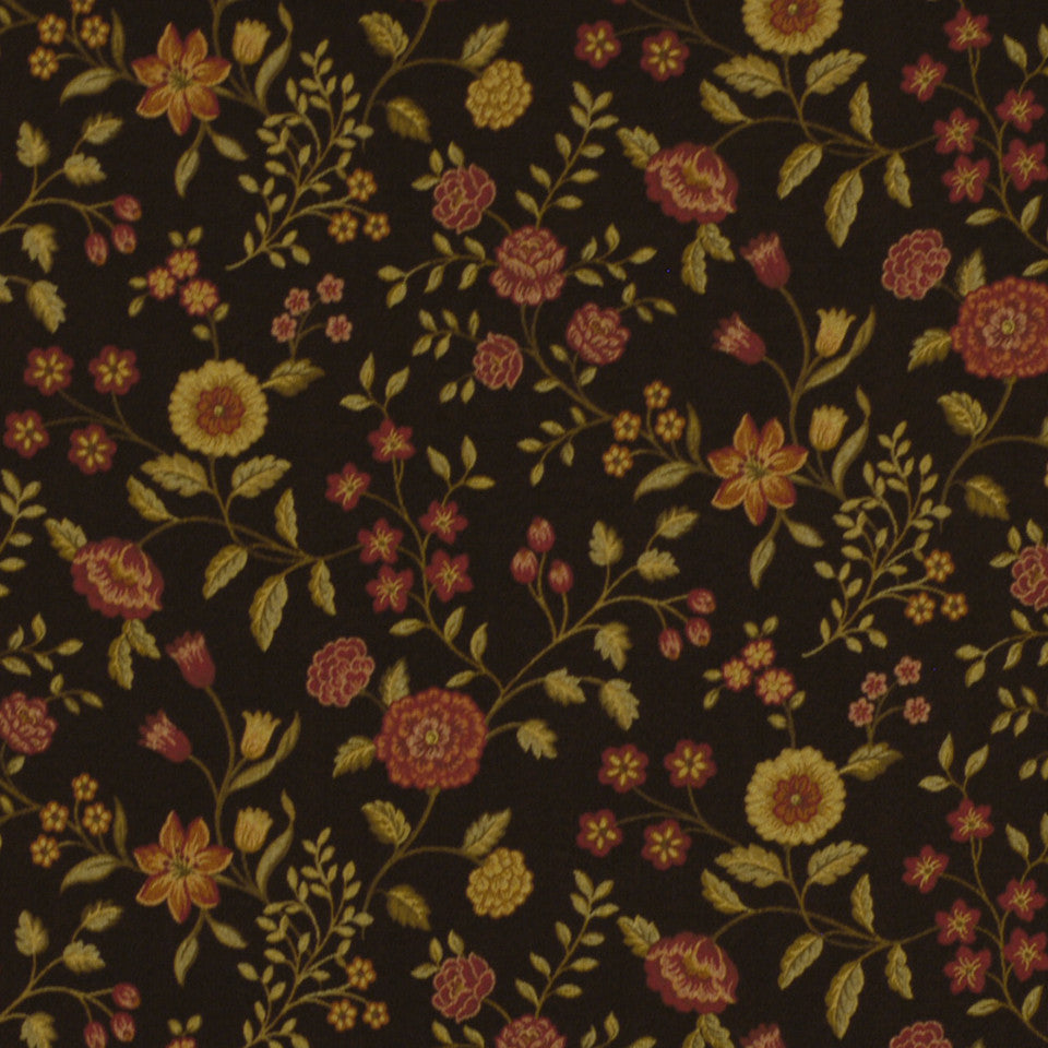 NEW TRADITIONS Mirabilis Fabric - Chocolate