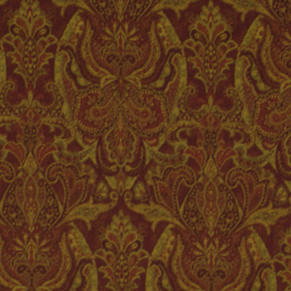 Persia Paisley Fabric - Tuscan Red