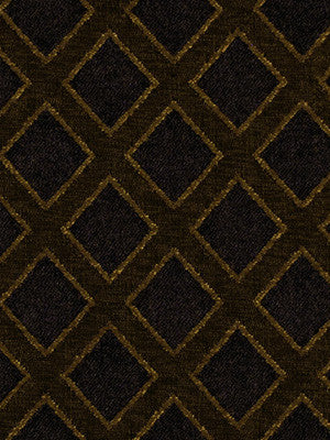 EBONY Lattice Sheen Fabric - Ebony