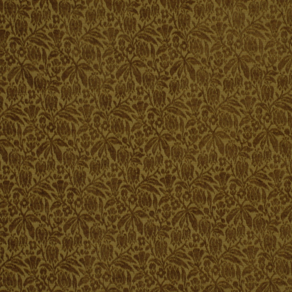 GREEN Weigela Fabric - Ochre