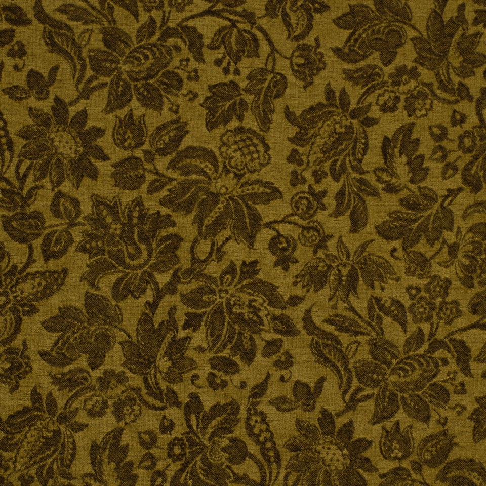GREEN Garden Royalty Fabric - Caper