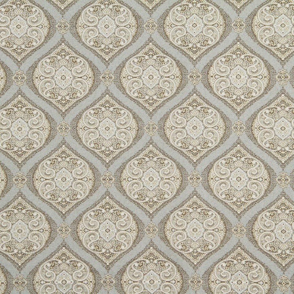 STERLING Orosco Fabric - Sterling