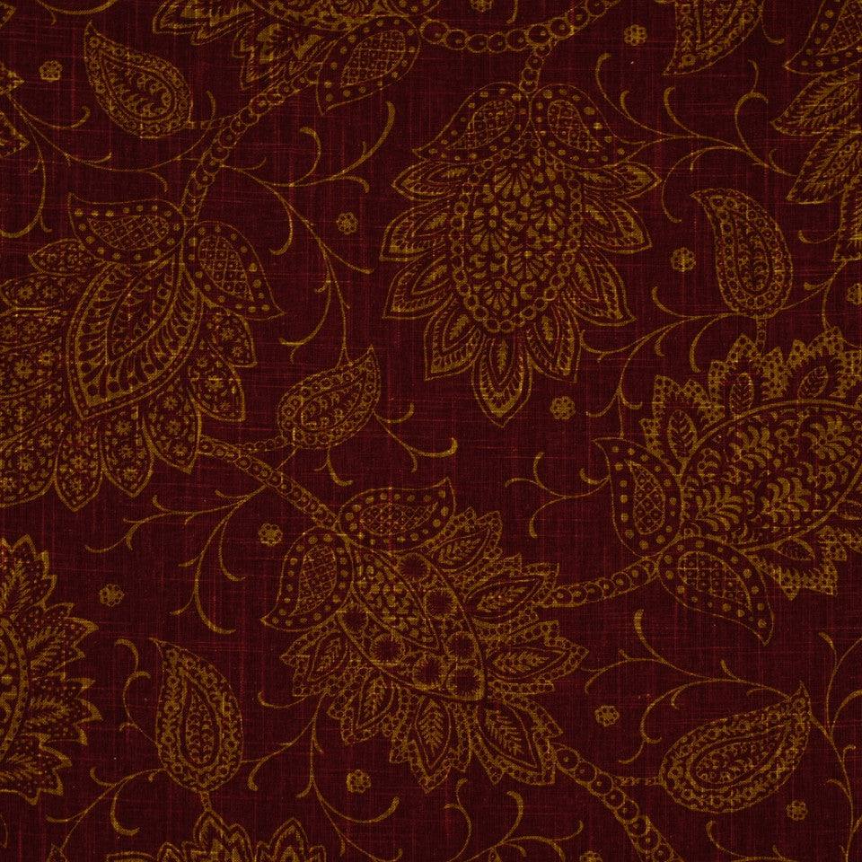 SHELTER ISLAND Chequit Fabric - Claret