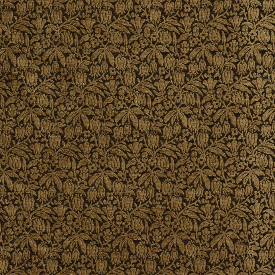 DARK NEUTRAL Weigela Fabric - Onyx
