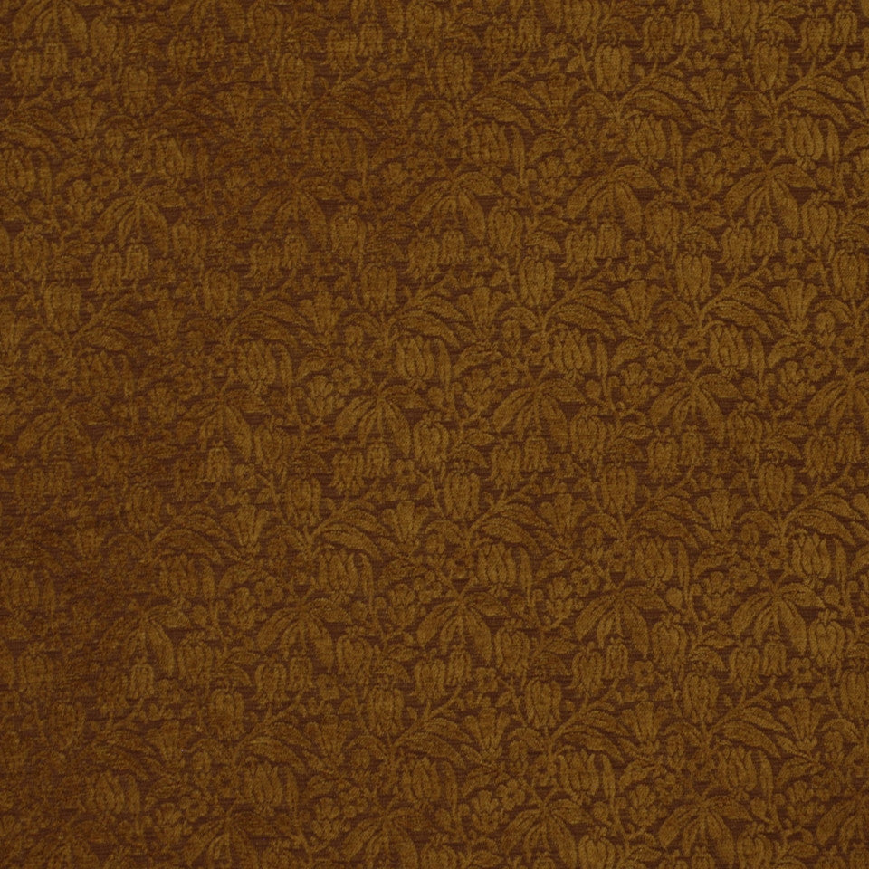 DARK NEUTRAL Weigela Fabric - Chestnut