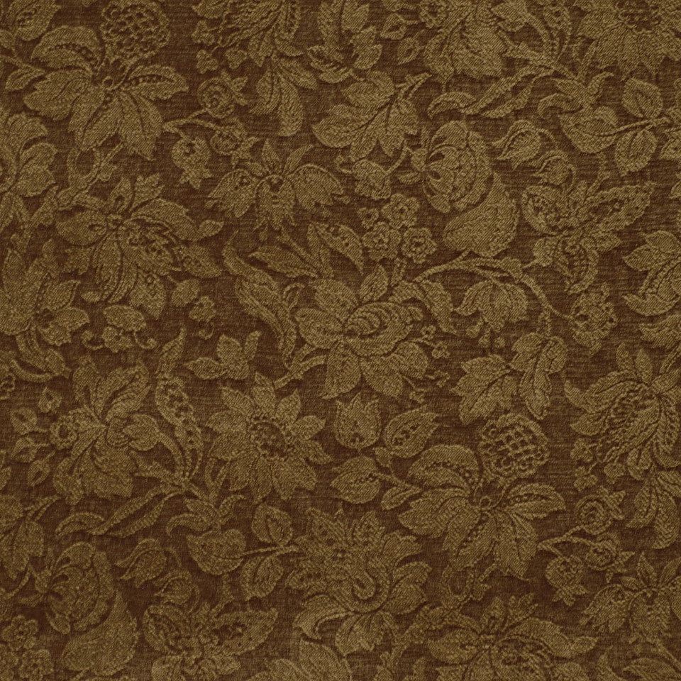 DARK NEUTRAL Garden Royalty Fabric - Ash