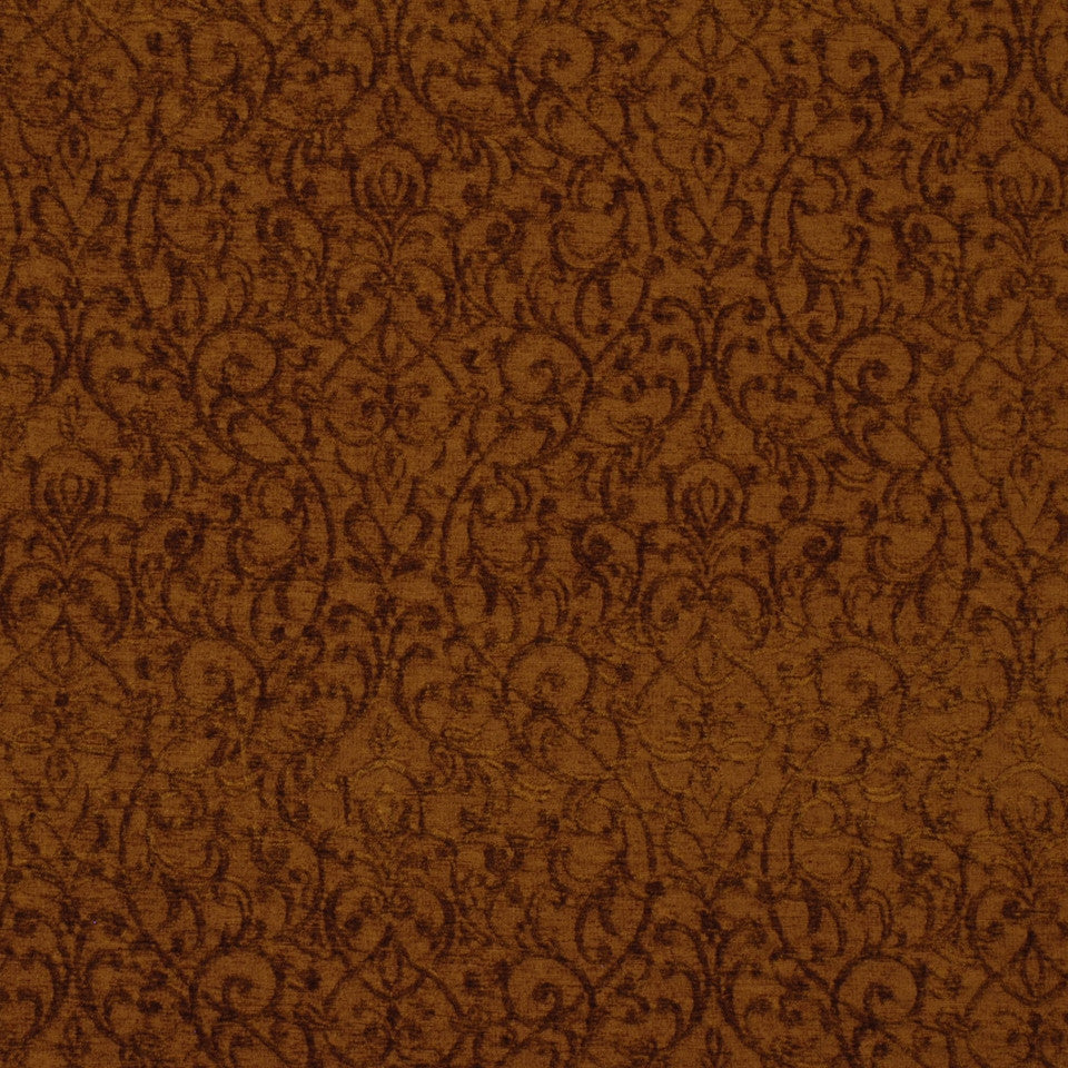DARK NEUTRAL Regal Splendor Fabric - Burnt Umber