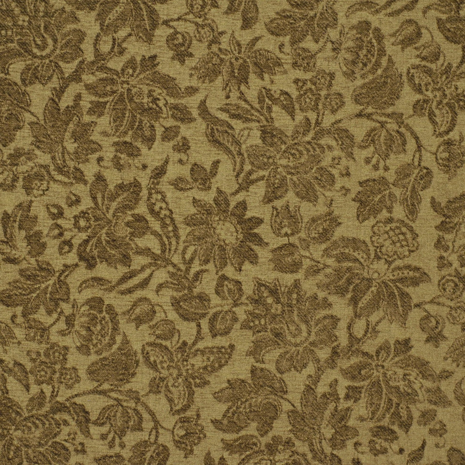 MID NEUTRAL Garden Royalty Fabric - Mocha