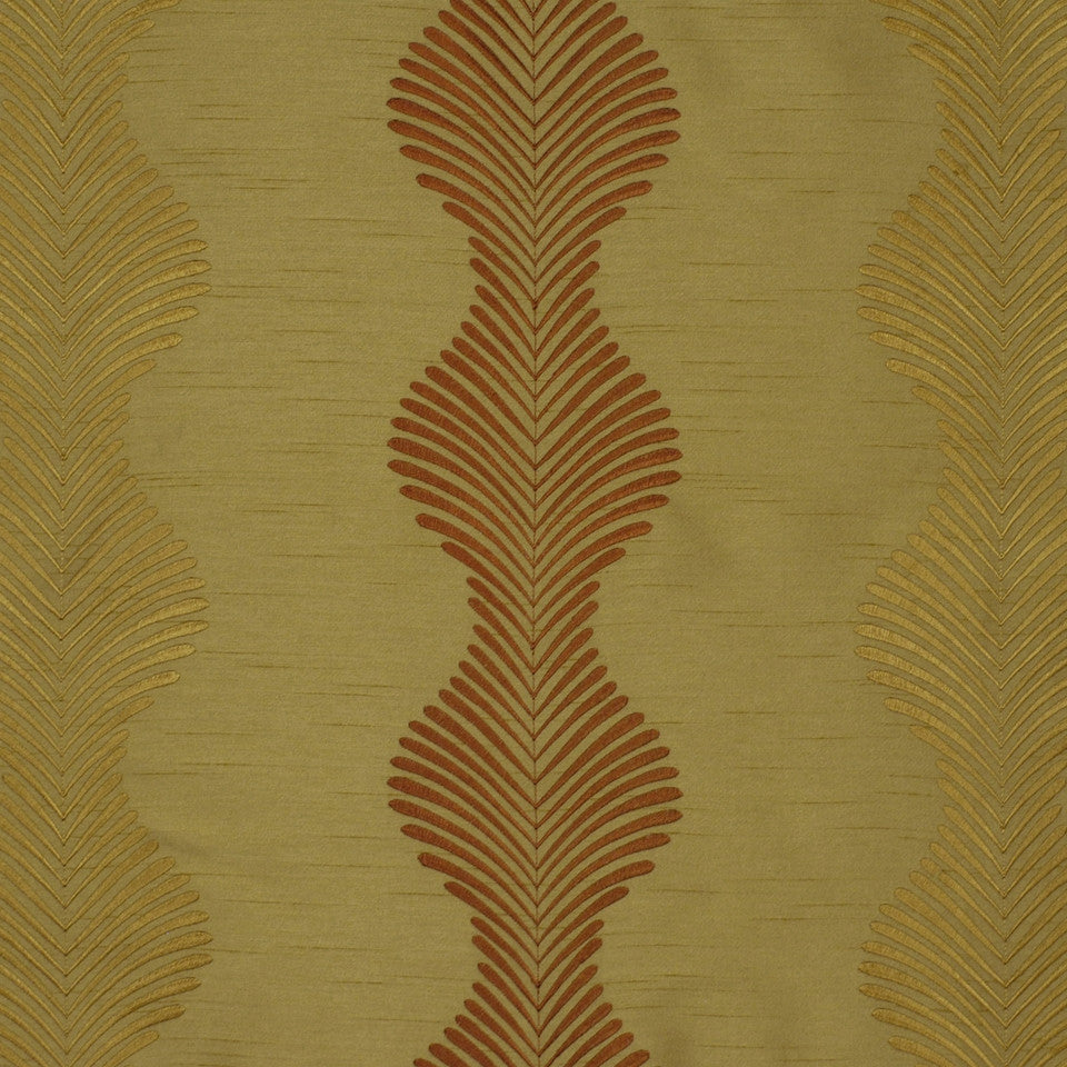 POMEGRANATE-HONEY-SEDONA Floral Leaf Fabric - Honey