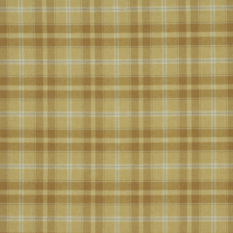 SHELTER ISLAND Carvers Plaid Fabric - Tan