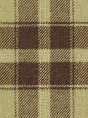 SHELTER ISLAND Carvers Plaid Fabric - Chocolate