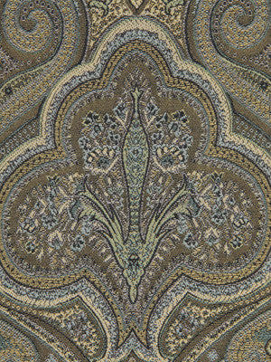 SHELTER ISLAND Oxford Paisley Fabric - Wedgewood