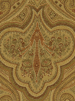 SHELTER ISLAND Oxford Paisley Fabric - Oro
