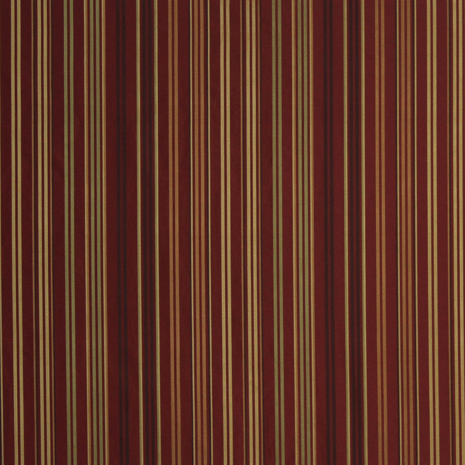 LAVA-RED HOT-GARNET Gilbert Stripe Fabric - Ruby