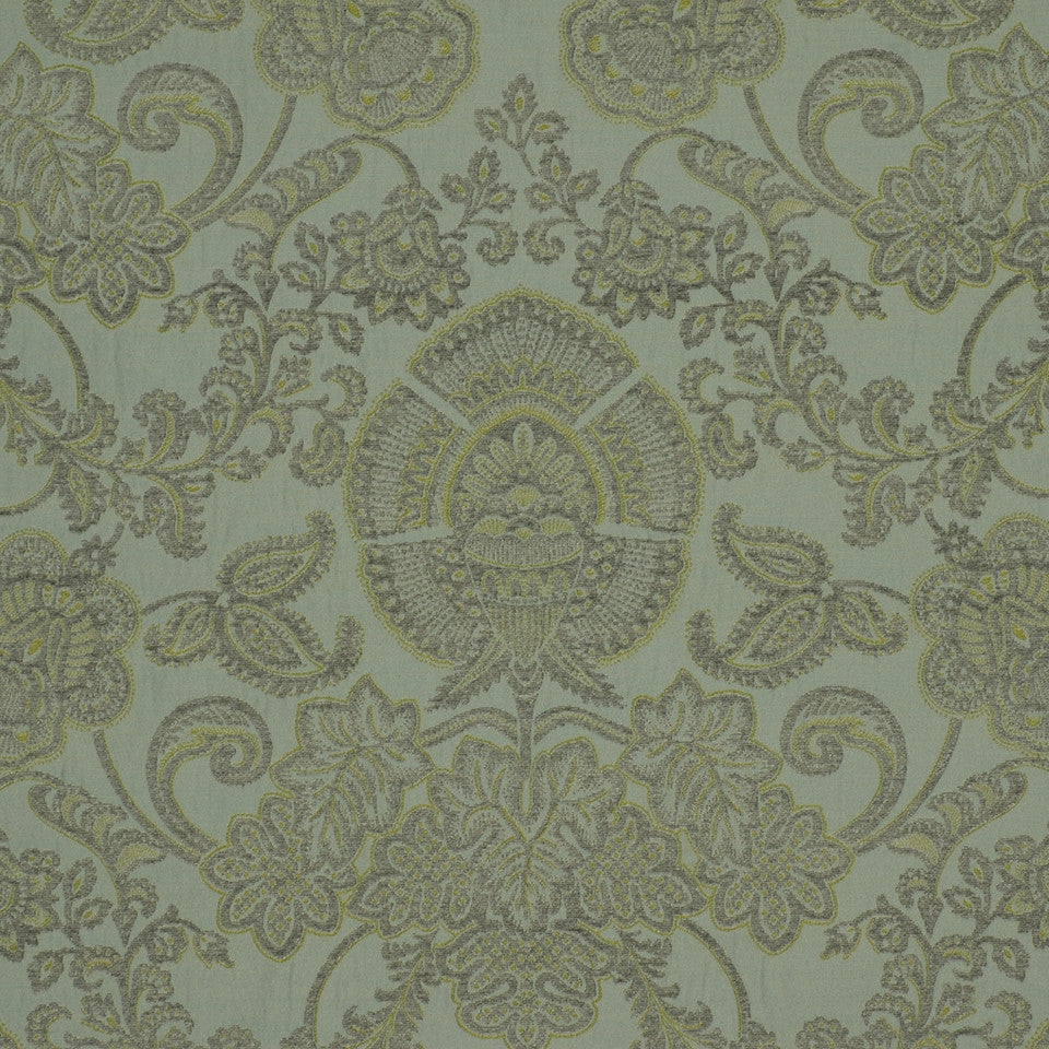 SHELTER ISLAND Siena Damask Fabric - Spa