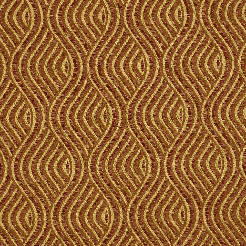 SHELTER ISLAND Nouveau Wave Fabric - Spice