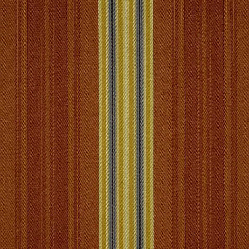 SHELTER ISLAND Holmdel Stripe Fabric - Brick
