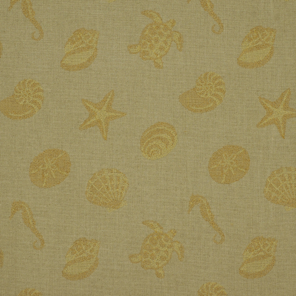 SHELTER ISLAND Under The Sea Fabric - Sand