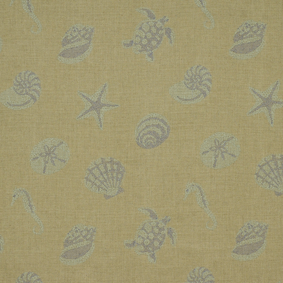 SHELTER ISLAND Under The Sea Fabric - Harbor Blue