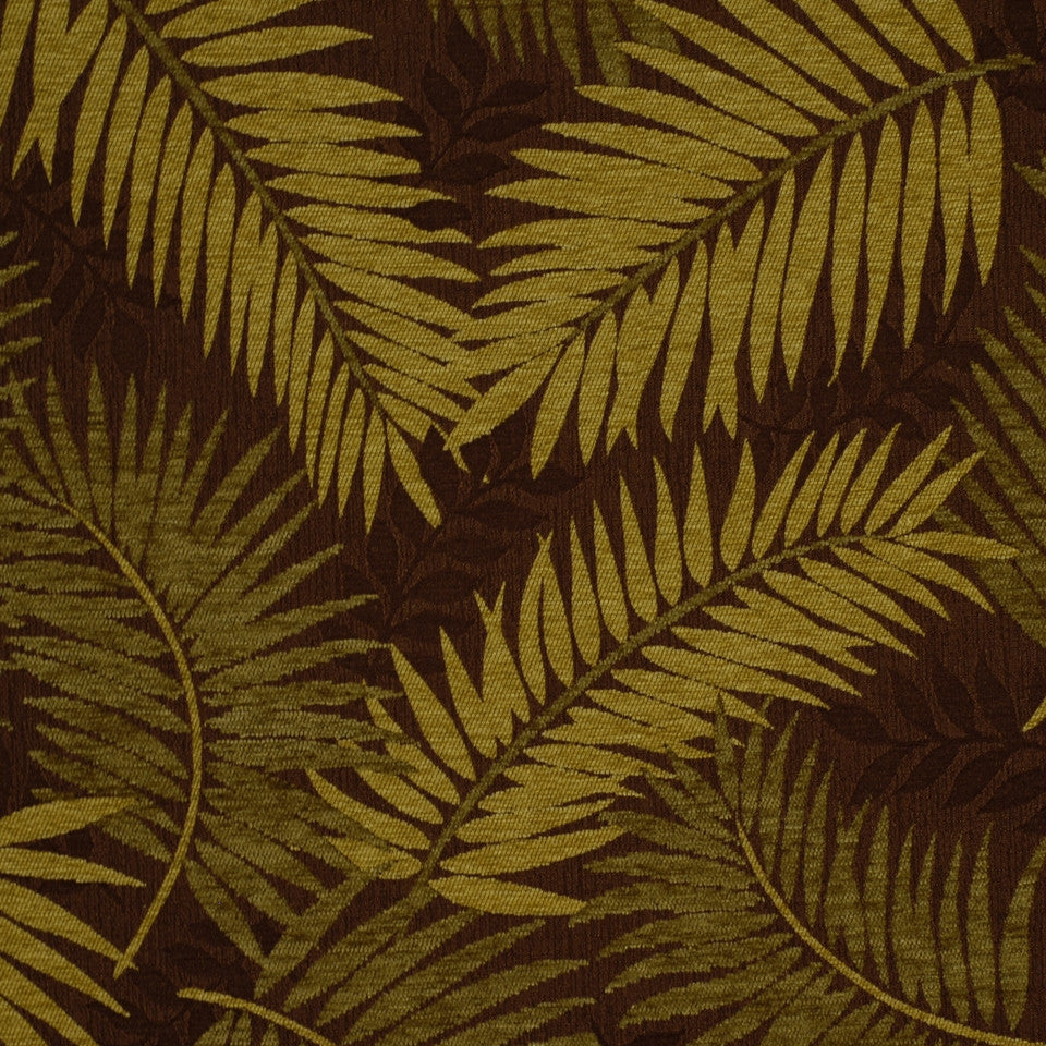 SHELTER ISLAND Tropic Breeze Fabric - Cocoa