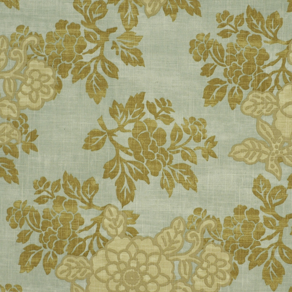 SHELTER ISLAND Belle Crest Fabric - Spa