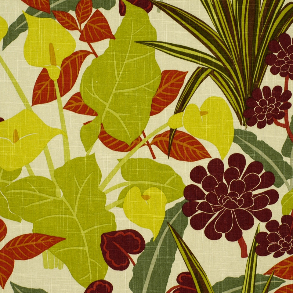 SUNSET-HENNA-BERRY Rowlily Fabric - Jungle