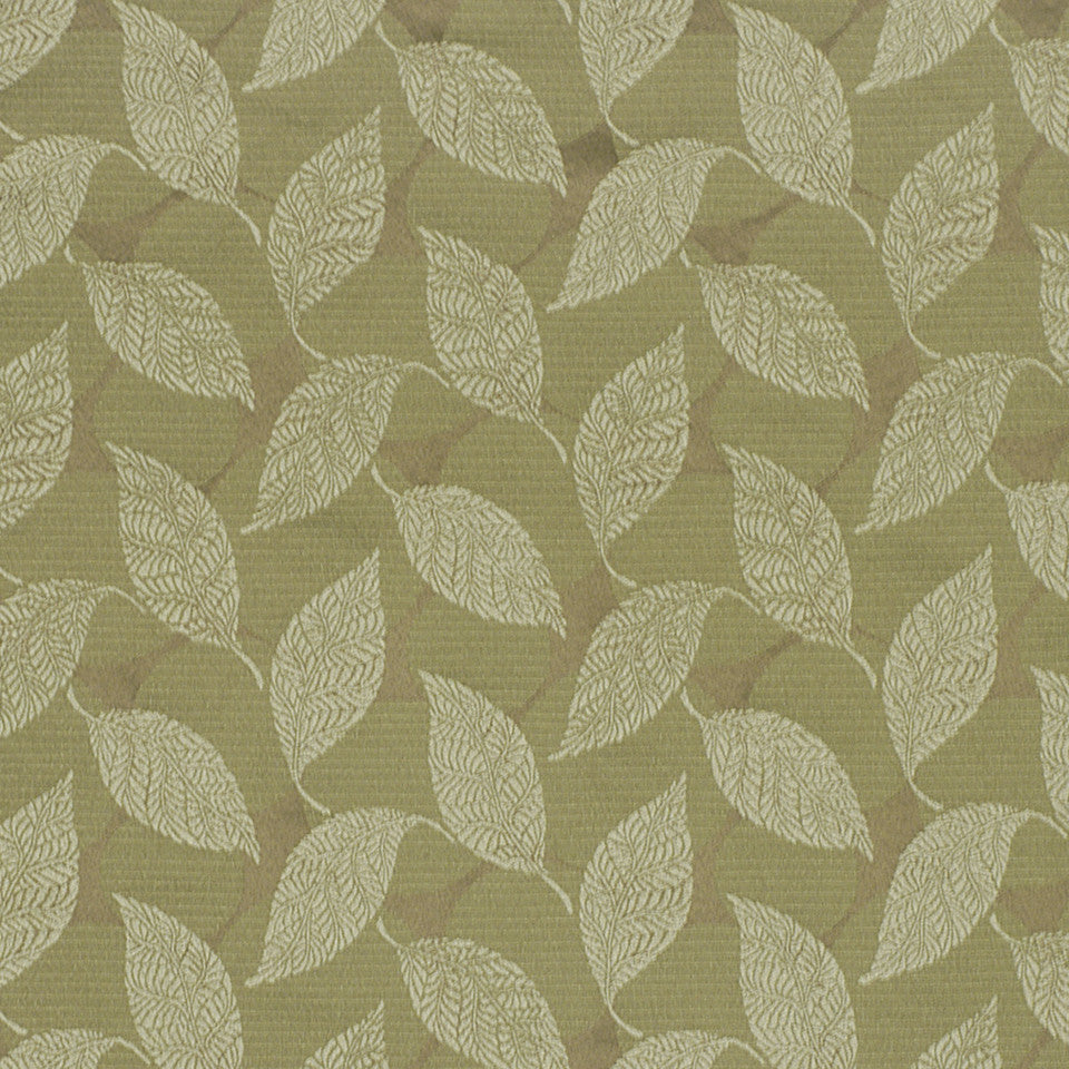 CORPORATE BINDER: PERFORMANCE/FINISHES DECORATIVE/UPH SOLIDS AND TEXTURES/ECO I Tree Leaves Fabric - Seaspray