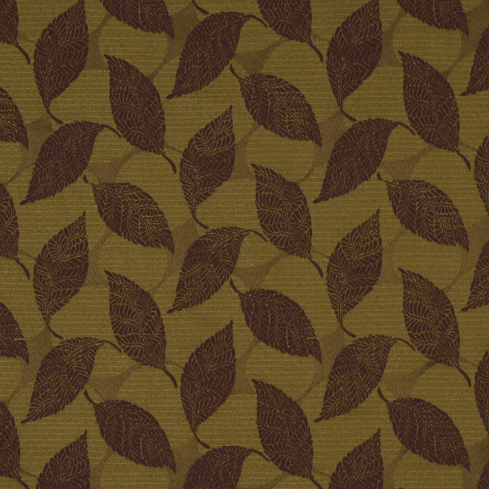 CORPORATE BINDER: PERFORMANCE/FINISHES DECORATIVE/UPH SOLIDS AND TEXTURES/ECO I Tree Leaves Fabric - Mulberry